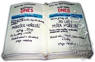 Narozeninové dorty – dort otevřená kniha n13
