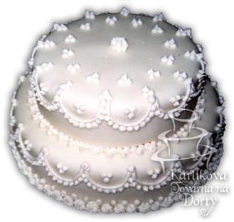 Svatební dorty – patrový dort s13